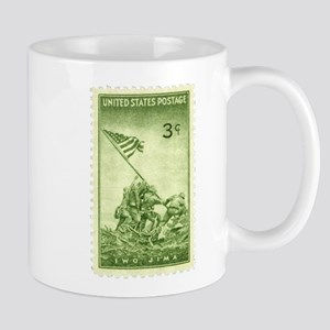 Iwo Jima 3 Cent Stamp Mug