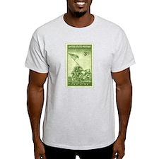 Iwo Jima 3 Cent Stamp Light T-Shirt