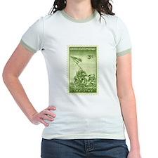 Iwo Jima 3 Cent Stamp Jr. Ringer T-Shirt