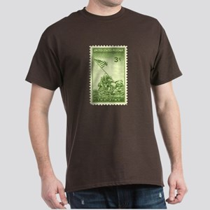 Iwo Jima 3 Cent Stamp Dark T-Shirt