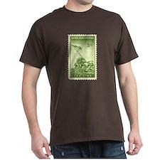 Iwo Jima 3 Cent Stamp Dark T-Shirt
