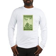 Iwo Jima 3 Cent Stamp Long Sleeve T-Shirt