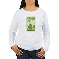 Iwo Jima 3 Cent Stamp Women's Long Sleeve T-Shirt