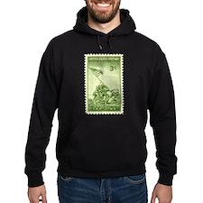 Iwo Jima 3 Cent Stamp Hoodie (dark)