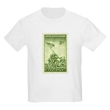 Iwo Jima 3 Cent Stamp Kids Light T-Shirt