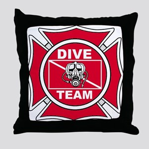 Rescue Dive Team Throw Pillow
