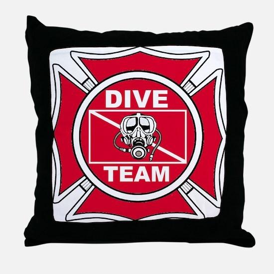 Rescue Dive Team Throw Pillow