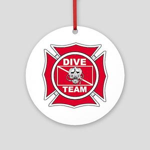Rescue Dive Team Ornament (Round)
