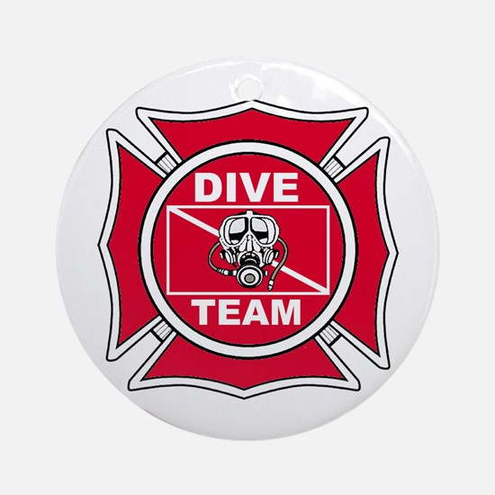 Rescue Dive Team Ornament (Round)