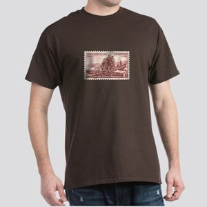 Lewis & Clark 3 Cent Stamp Dark T-Shirt