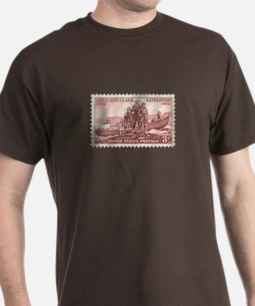 Lewis & Clark 3 Cent Stamp T-Shirt