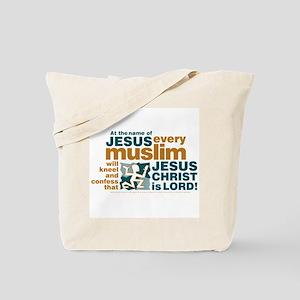 Every muslim will kneel. Tote Bag
