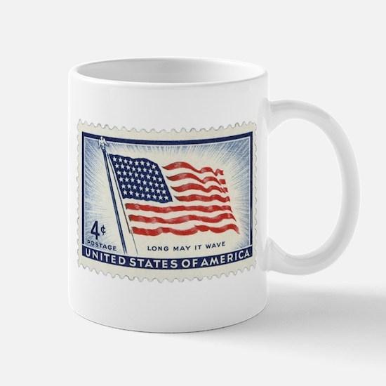USA Flag 4 Cent Stamp Mug