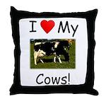 Love My Cows Throw Pillow
