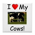 Love My Cows Tile Coaster
