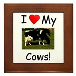 Love My Cows Framed Tile
