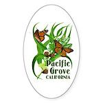 Pacific Grove Monarchs Oval Sticker