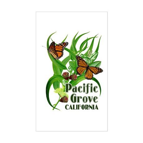 Pacific Grove Monarchs Rectangle Sticker