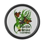 Pacific Grove Monarchs Large Wall Clock