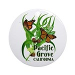 Pacific Grove Monarchs Ornament (Round)