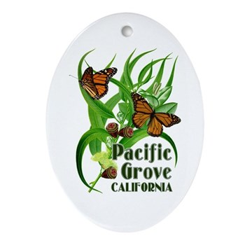 Pacific Grove Monarchs Oval Ornament