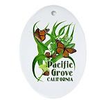 Pacific Grove Monarchs Oval Ornament