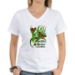 Pacific Grove Monarchs Women's V-Neck T-Shirt