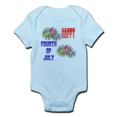 July 4th Fireworks Infant Bodysuit