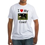 Love My Cows Fitted T-Shirt