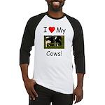 Love My Cows Baseball Jersey