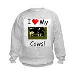 Love My Cows Kids Sweatshirt