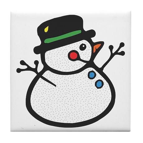 Friendly Frosty Tile Coaster