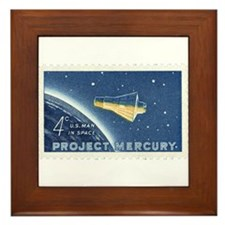 Project Mercury 4-cent Stamp Framed Tile