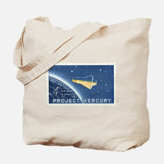 Project Mercury 4-cent Stamp Tote Bag