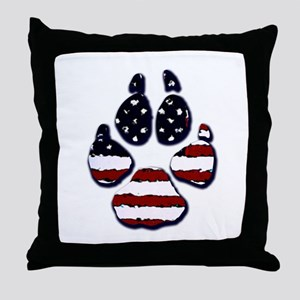 American Dog Throw Pillow
