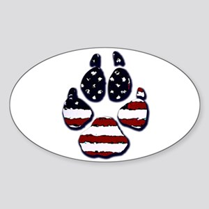 American Dog Oval Sticker