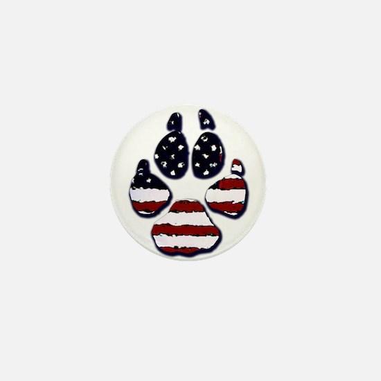 American Dog Mini Button