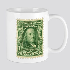 Ben Franklin 1-cent Stamp Mug