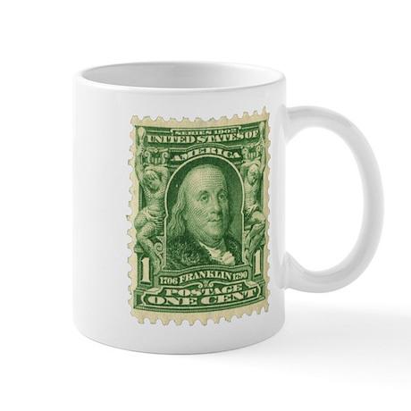 Ben Franklin 1-cent Stamp Mug
