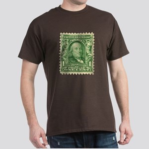 Ben Franklin 1-cent Stamp Dark T-Shirt