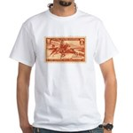 Pony Express 3-cent Stamp White T-Shirt