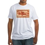 Pony Express 3-cent Stamp Fitted T-Shirt