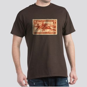 Pony Express 3-cent Stamp Dark T-Shirt