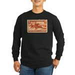 Pony Express 3-cent Stamp Long Sleeve Dark T-Shirt