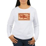 Pony Express 3-cent Stamp Women's Long Sleeve T-Sh
