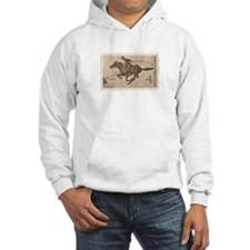 Pony Express 4-cent Stamp Hooded Sweatshirt
