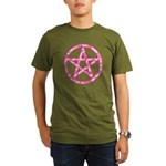Pink Camo Pentagram Organic Men's T-Shirt (dark)