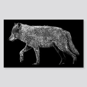 Wolf Bumper Rectangle Sticker