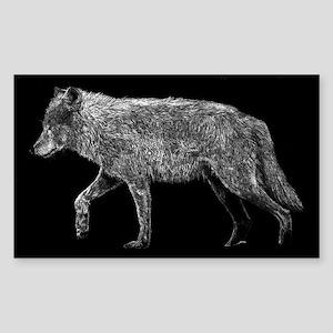 Wolf Bumper Rectangle Sticker