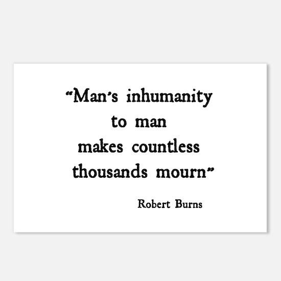 Man's Inhumanity Postcards (Package of 8)